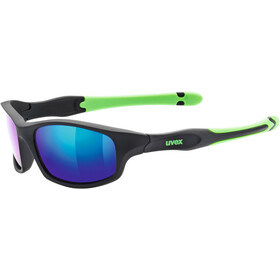 UVEX Sportstyle 507 Glasses Kids, black mat green/green